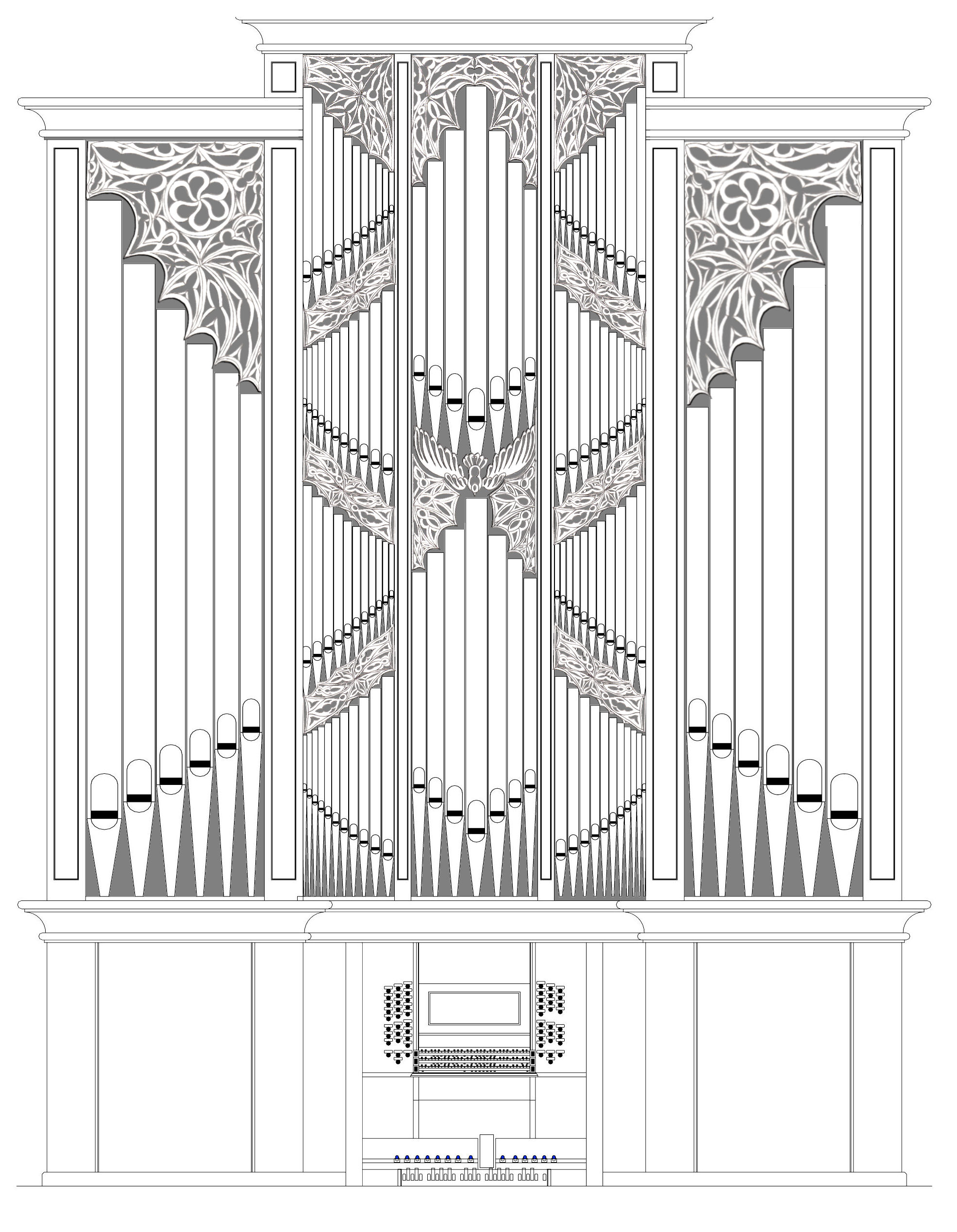 Organ Pipes Drawing Fritts Organ Builders st