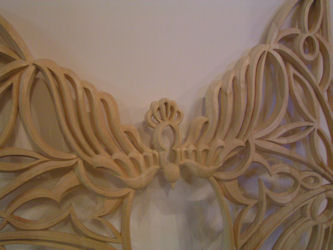 Pipe shade carving for St. Philip Presbyterian Church, Houston TX