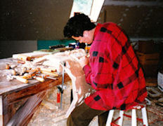 Carving the PLU pipe shades, The Gottfried and Mary Fuchs Organ, Pacific Lutheran University, wood carver Jude Fritts