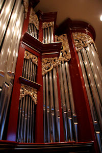 Wood carved ornament for the Fritts pipe organ at Vassar College, Poughkeepsie, New York